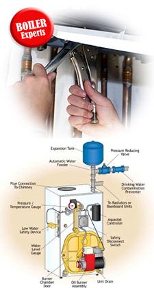 oil steam boiler services