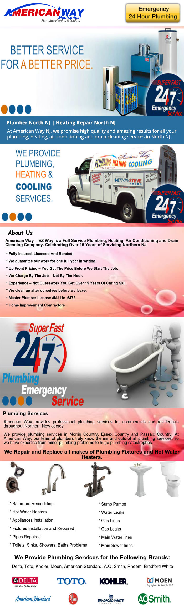 American Way Plumber West Orange NJ